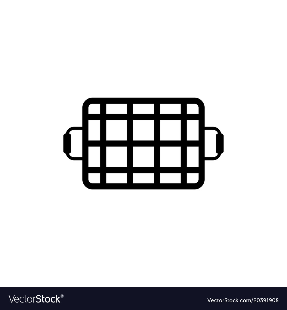 Grill grid flat icon vector image