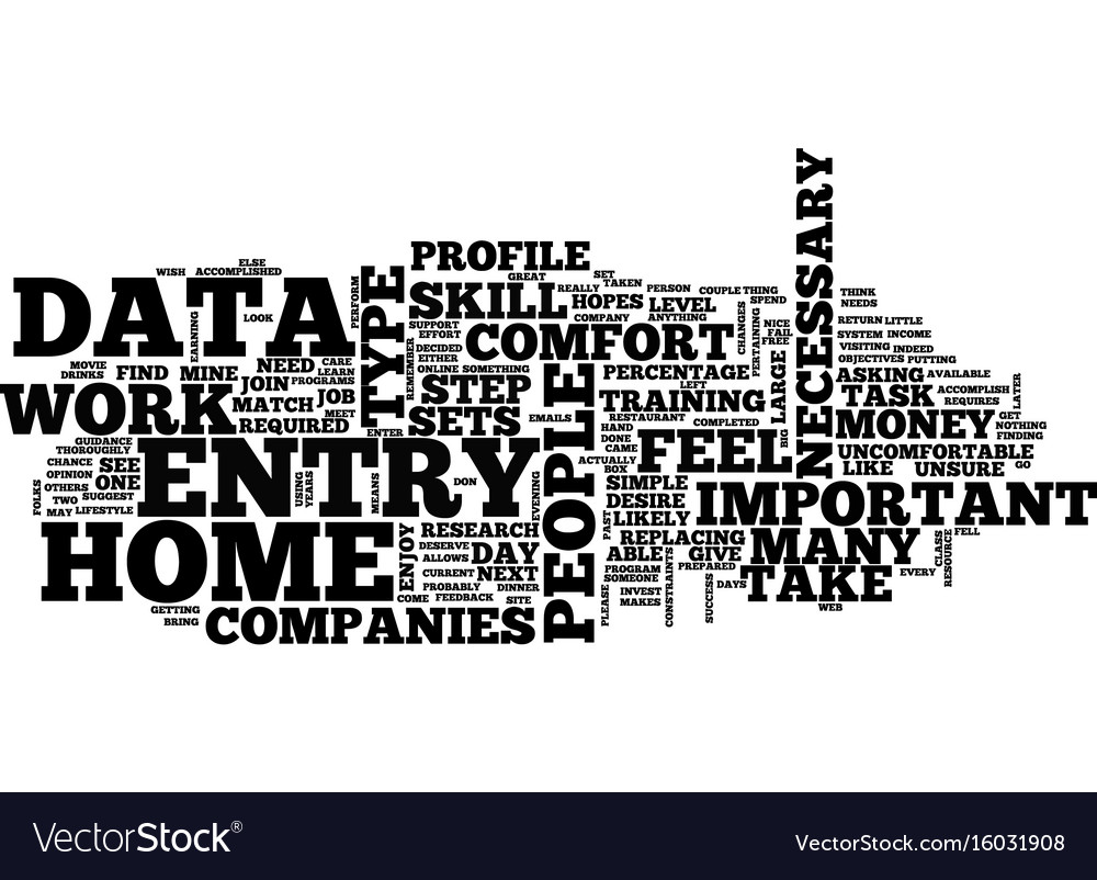 Learn to type simple data entry from home for vector image