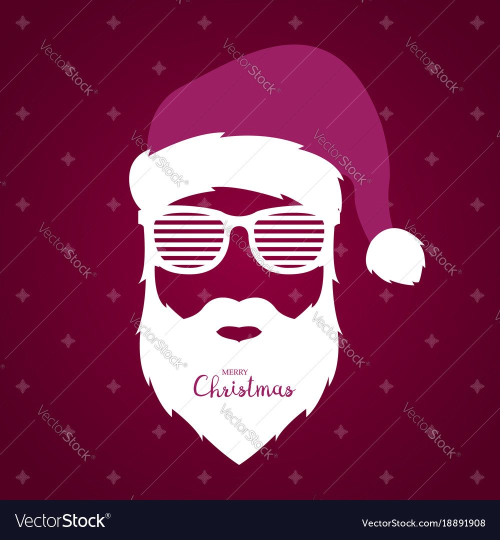93d6534fcdb Santa claus with glasses shutter shades Royalty Free Vector