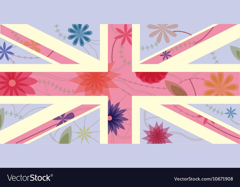 Vintage UK flag vector image