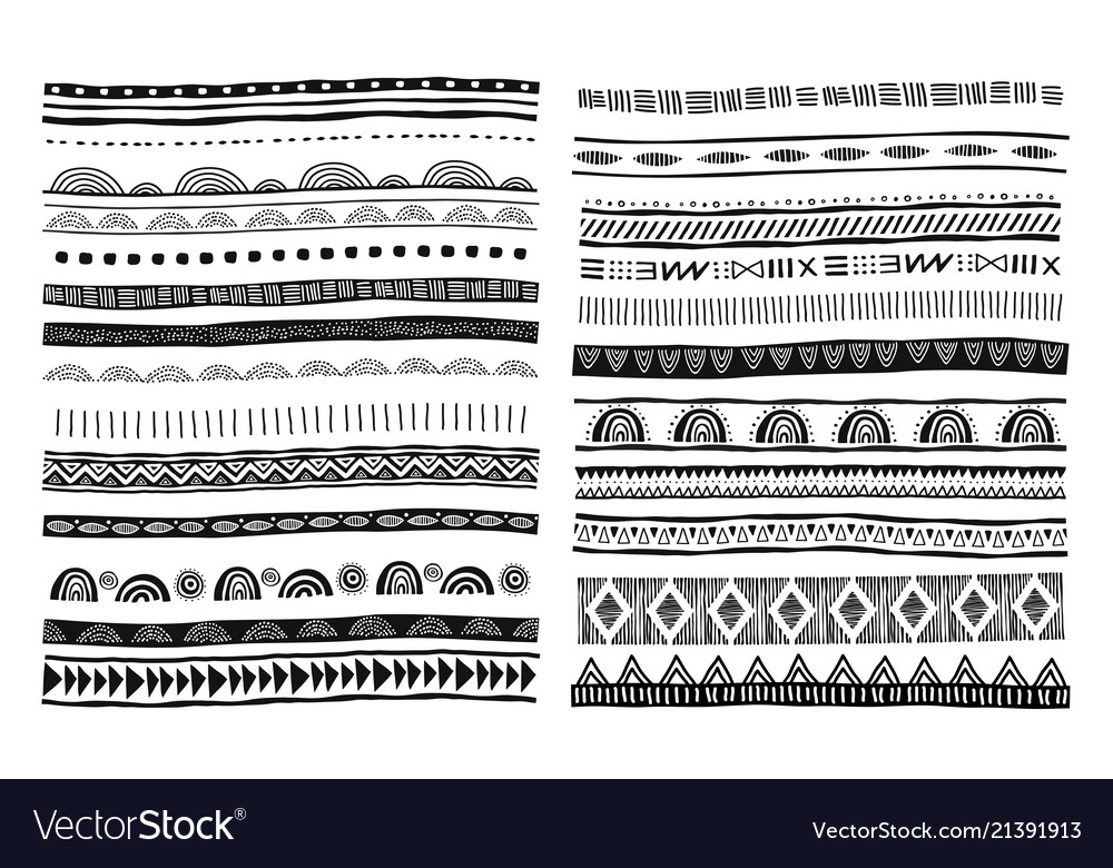 African tribal ethnic pattern brushes