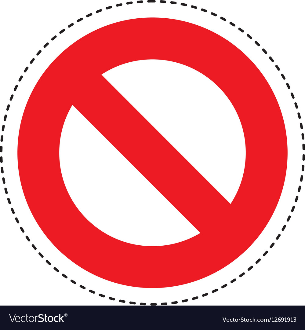 Denied >> Denied Sign Isolated Icon