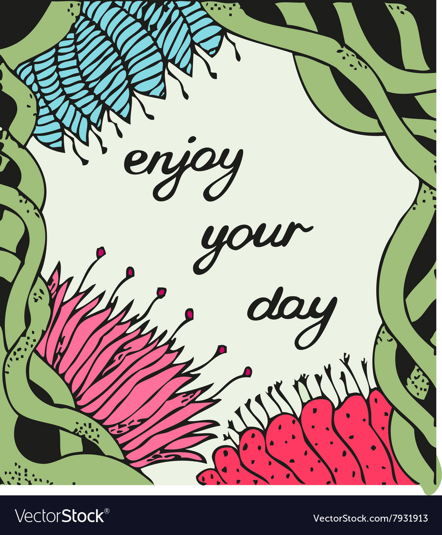 Enjoy your day Vintage background with ancient