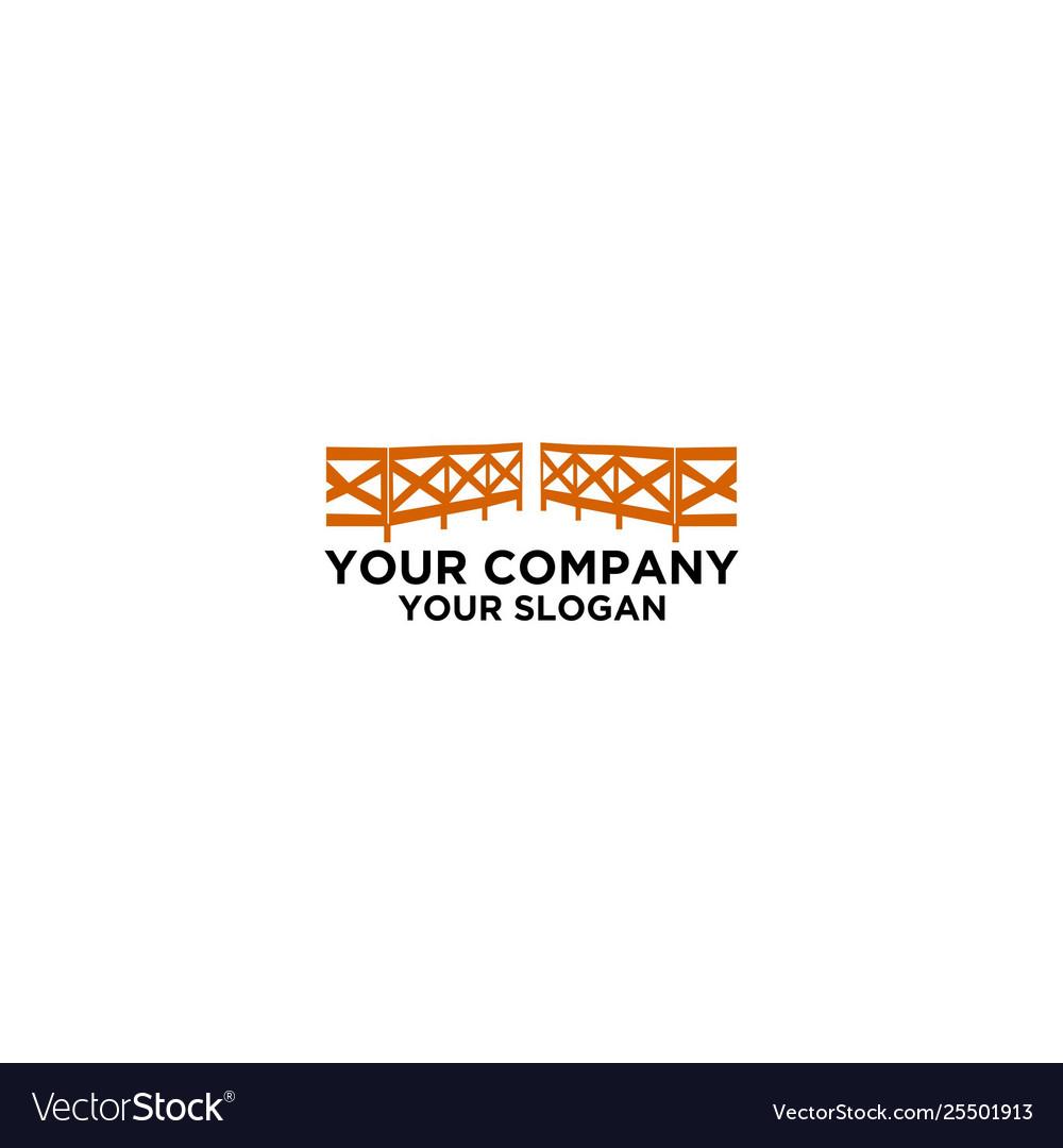Fence logo icon design template