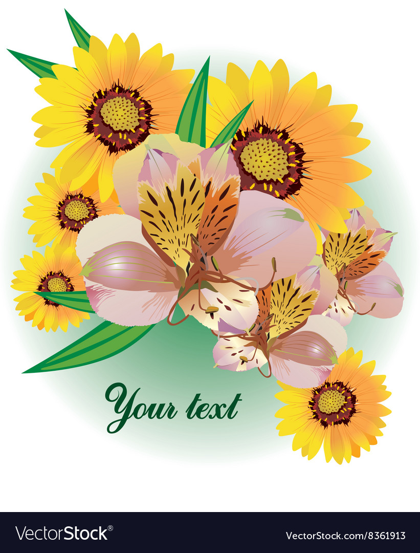 Floral Bouquet with Text Space