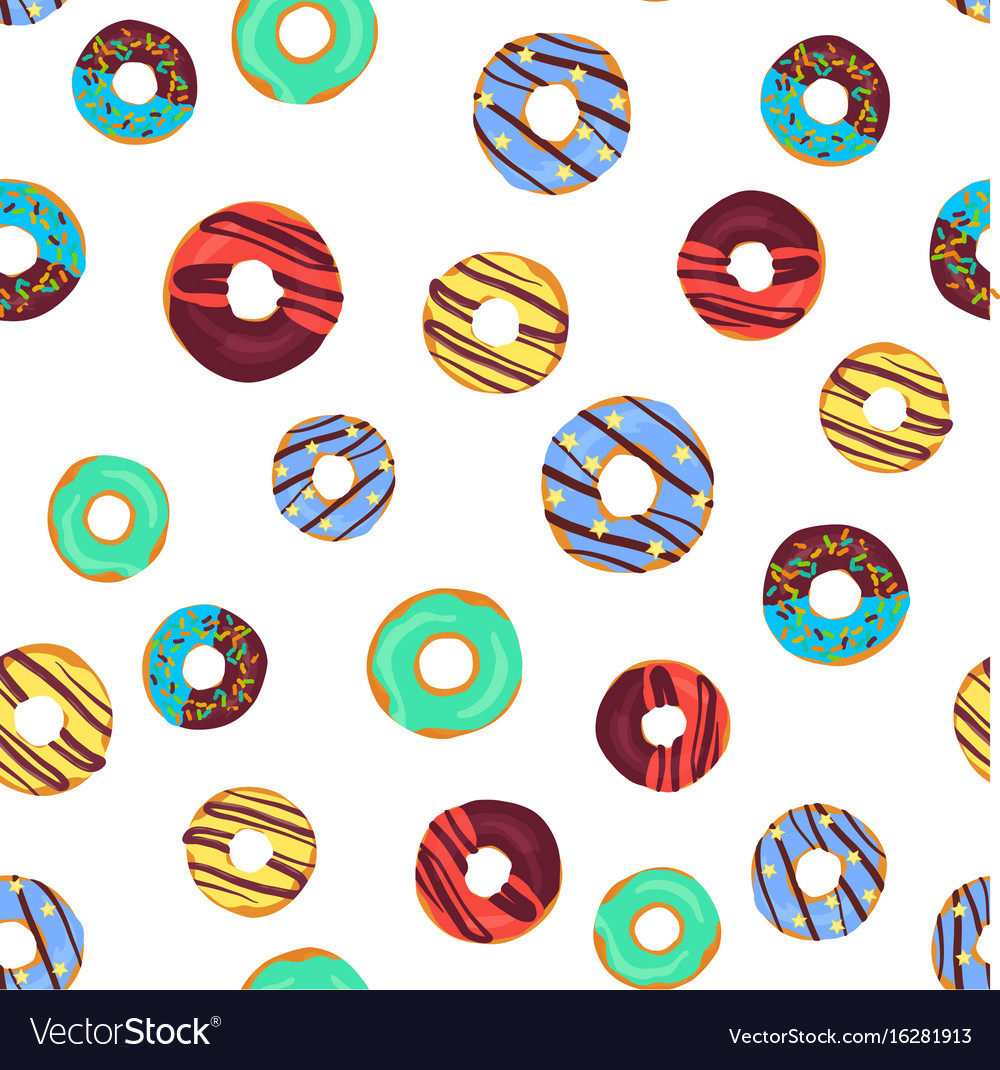 Funny seamless pattern with chocolate