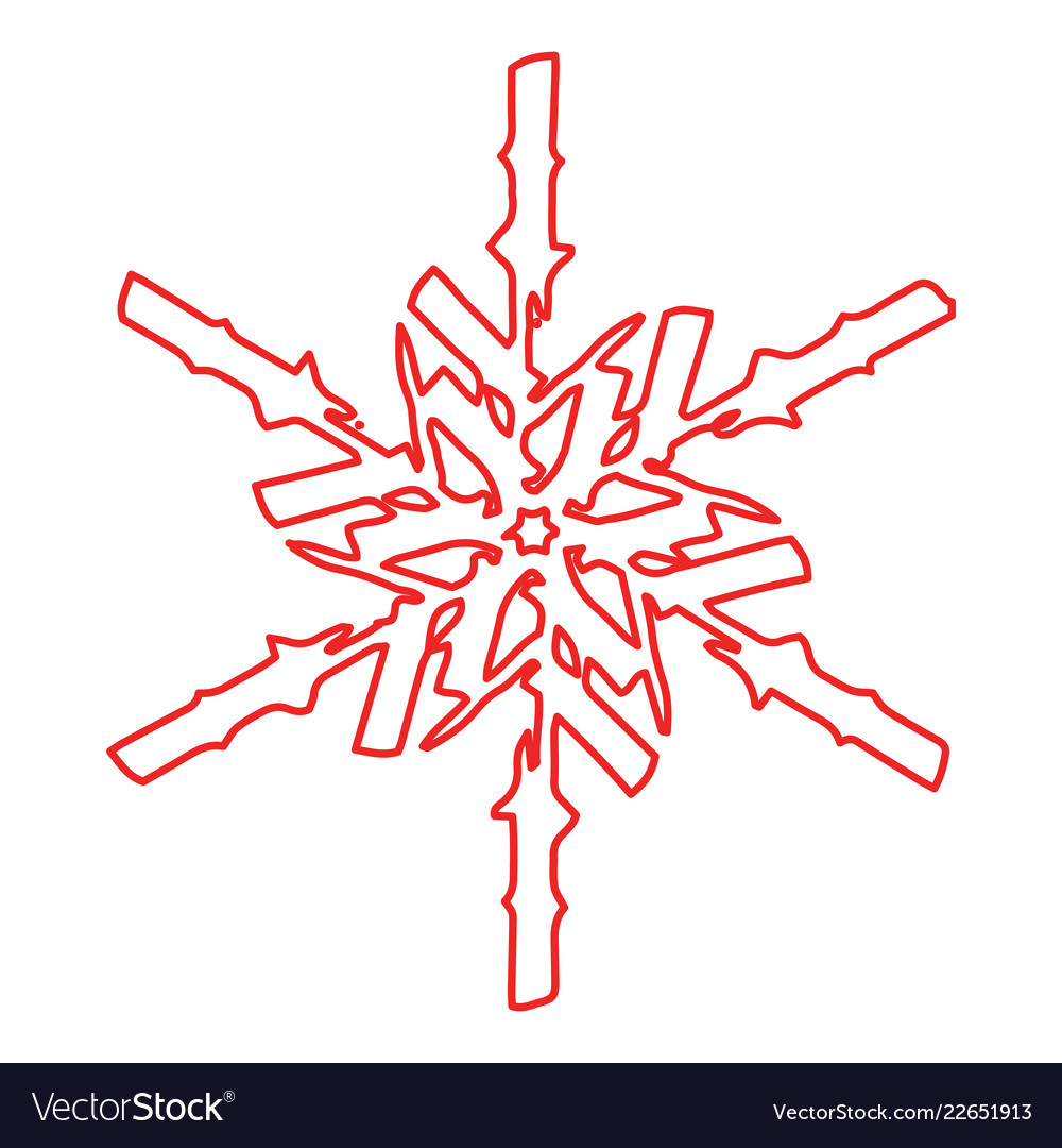 Grunge ourline snowflake