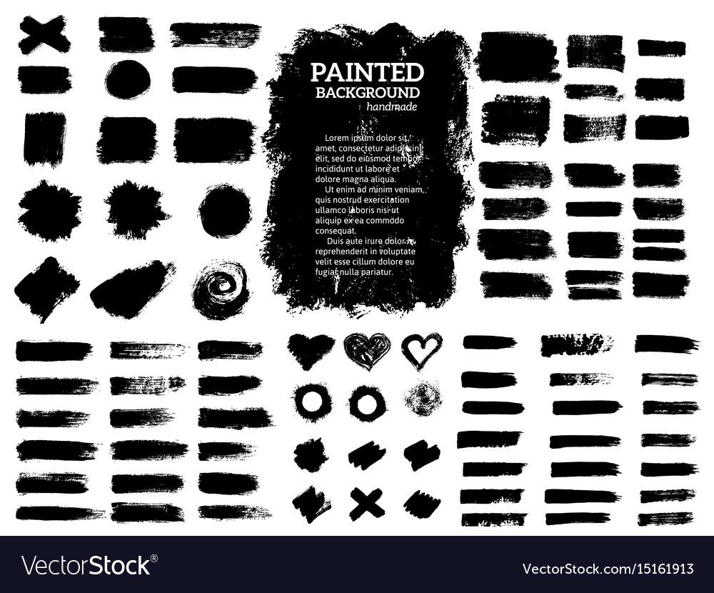 Painted grunge stripes set