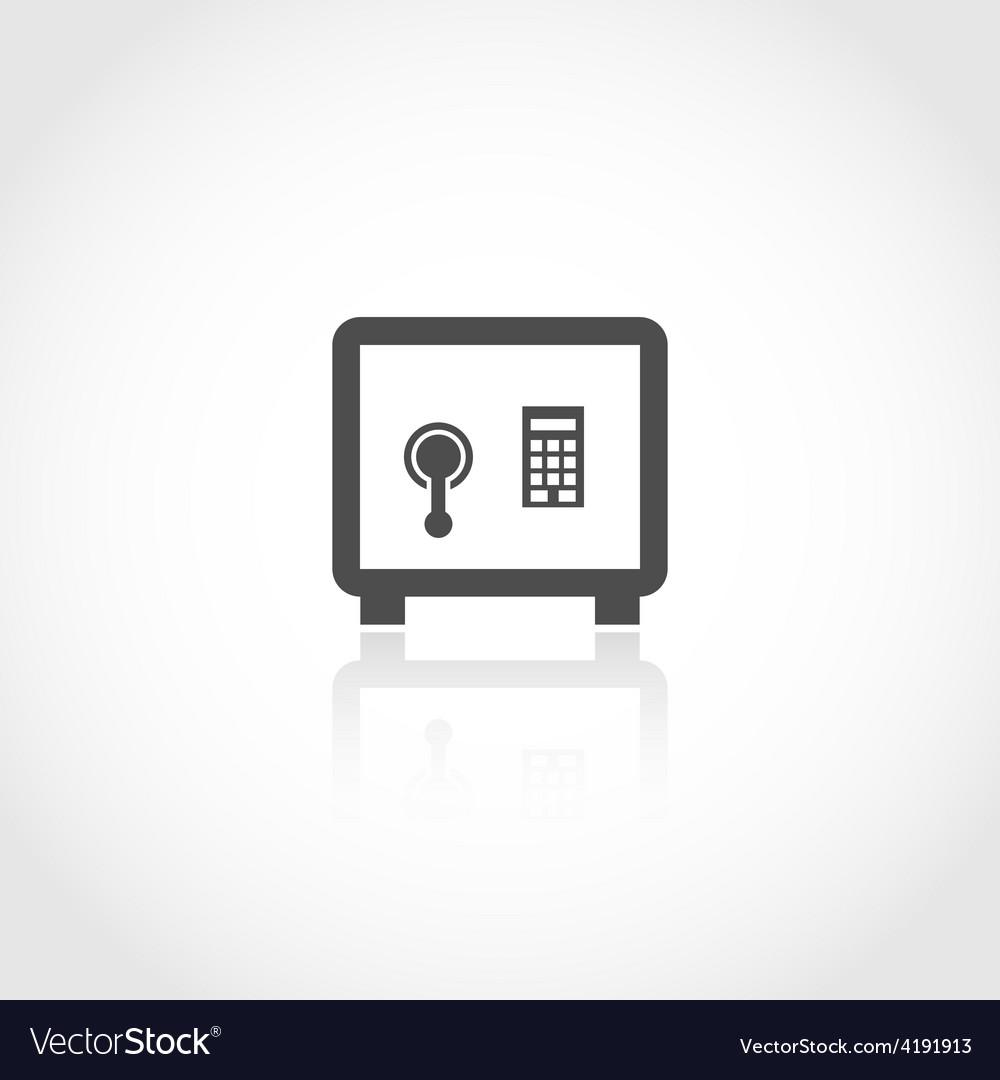 Safe deposit icon vector image