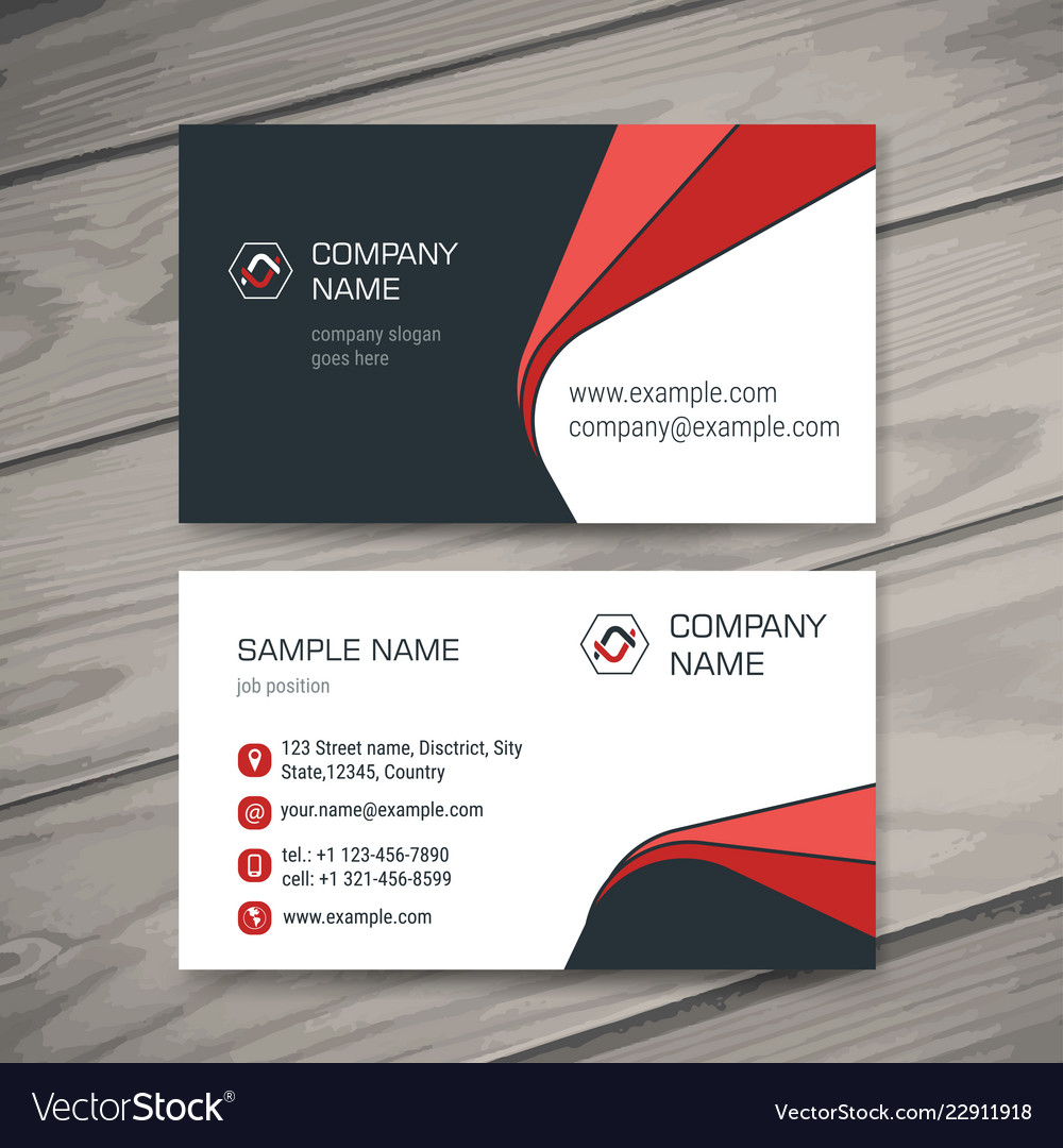 what goes on a business card