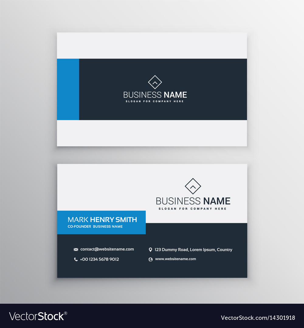 clean minimal business card template vector image - Minimal Business Card