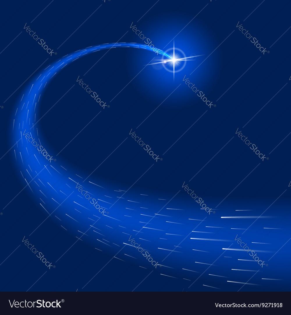 Glow light effect star bursts sparkles Blue vector image