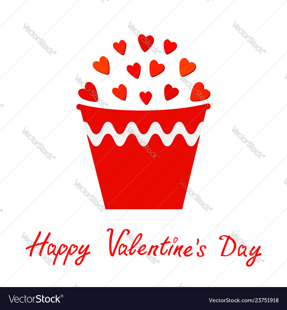 Red heart set in bucket gift object flower pot