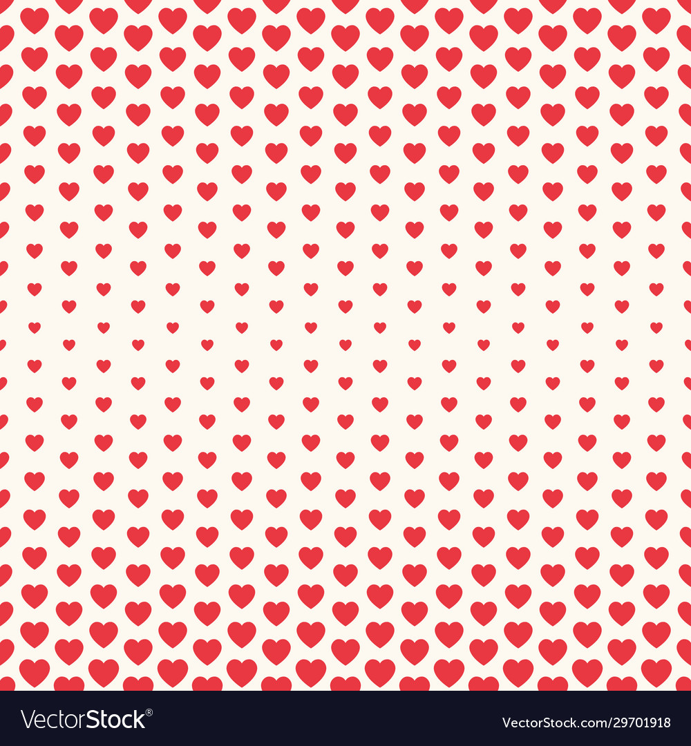 Seamless valentine pattern with big and