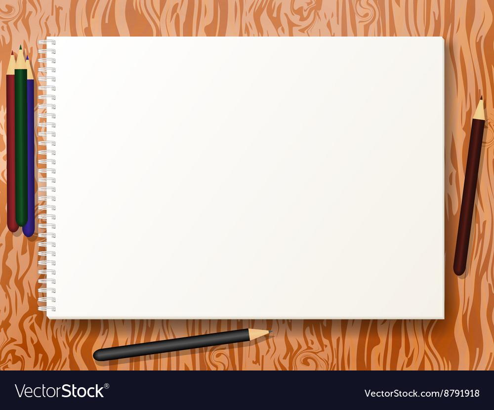 Sketch pad with pencils