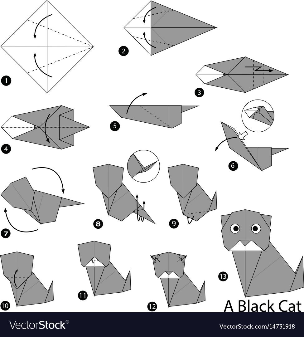 Origami Simple Cat Instructions | 1080x975