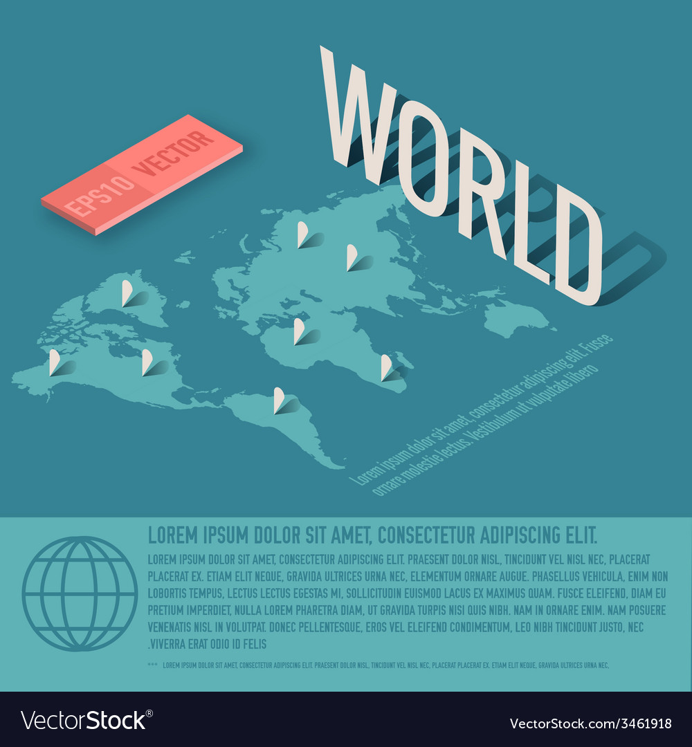 World map business background concept desig vector image