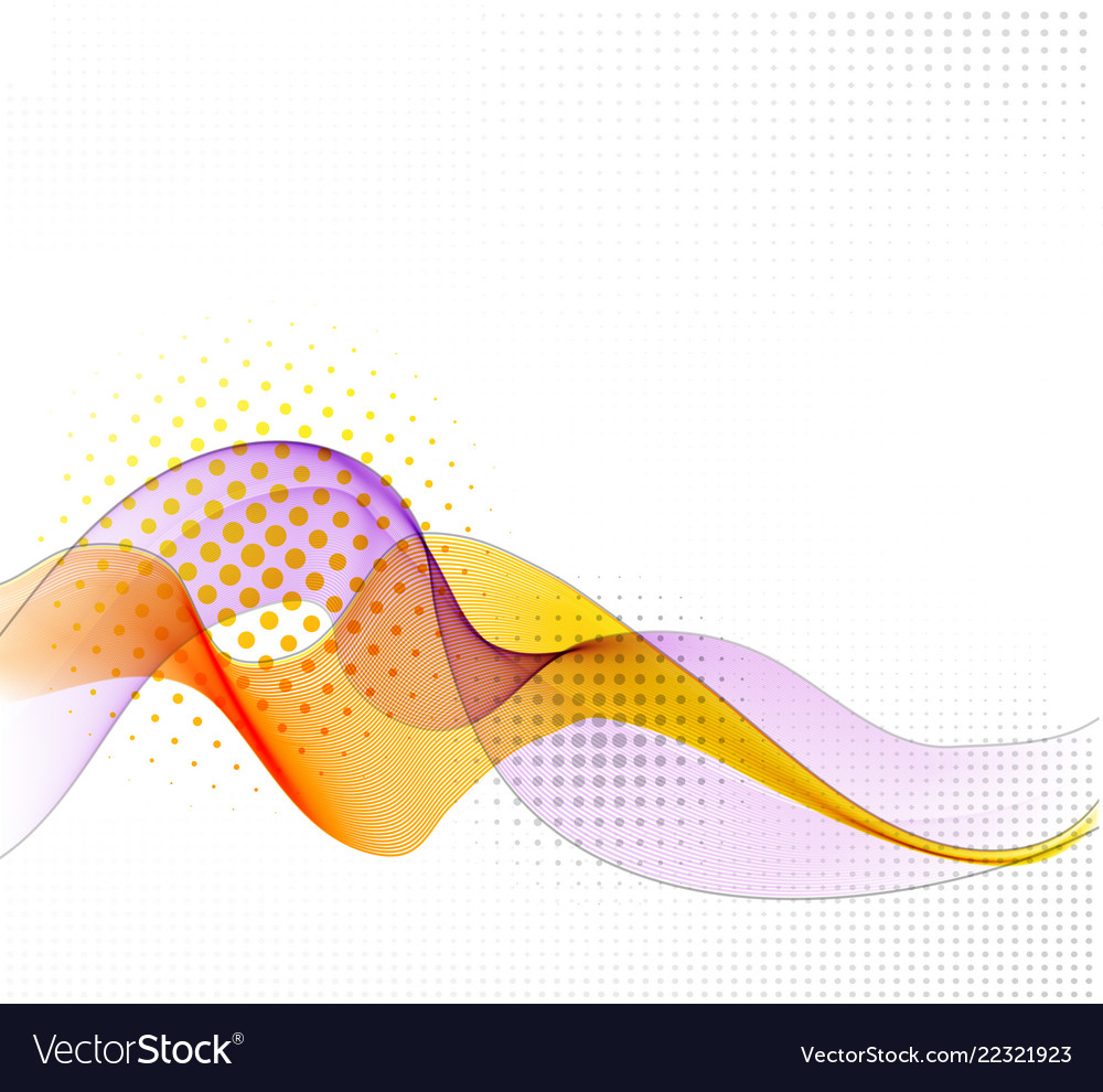 Abstract background with smooth color wave