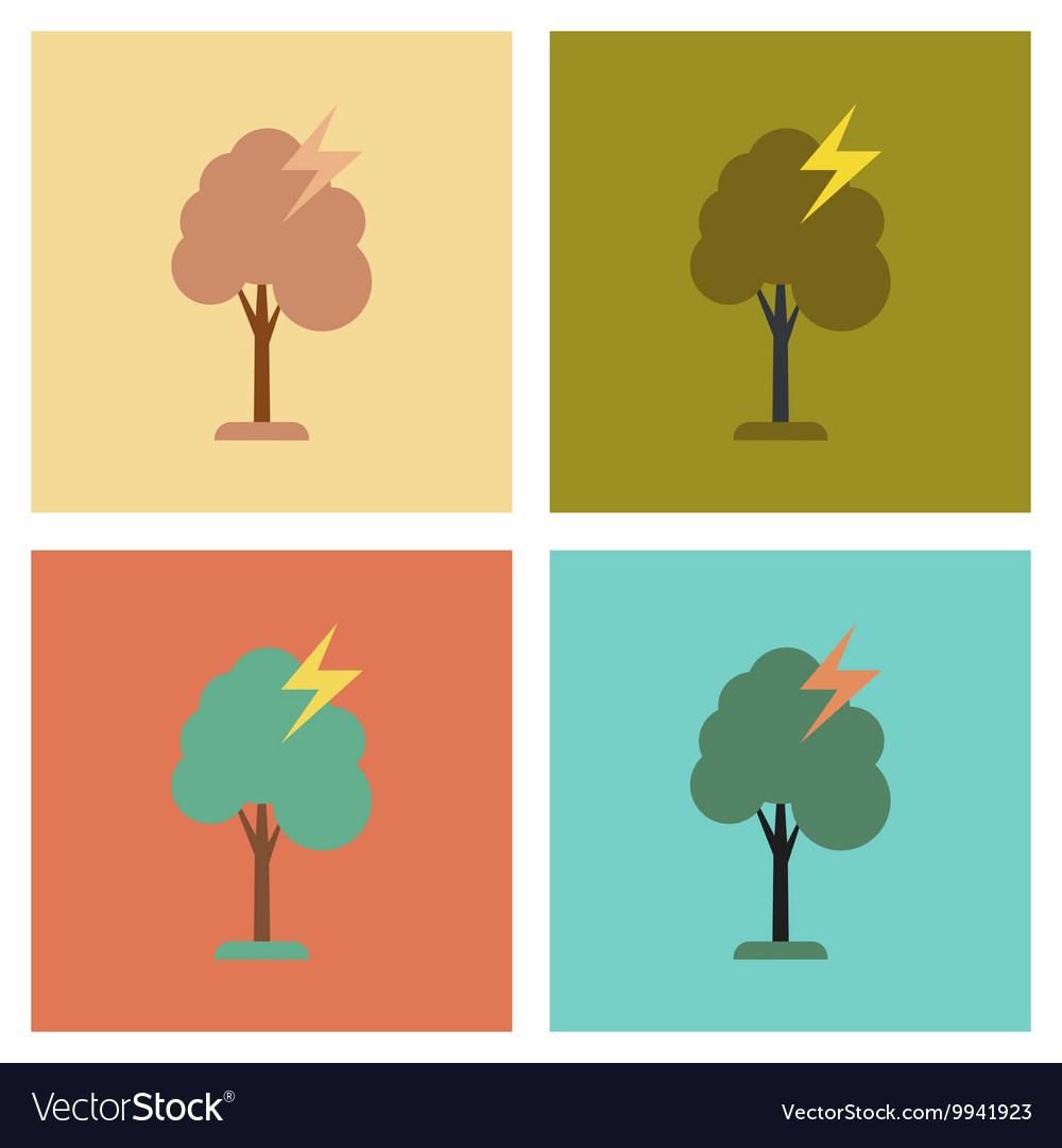 seamless pattern lightning thunder bolt pictogram