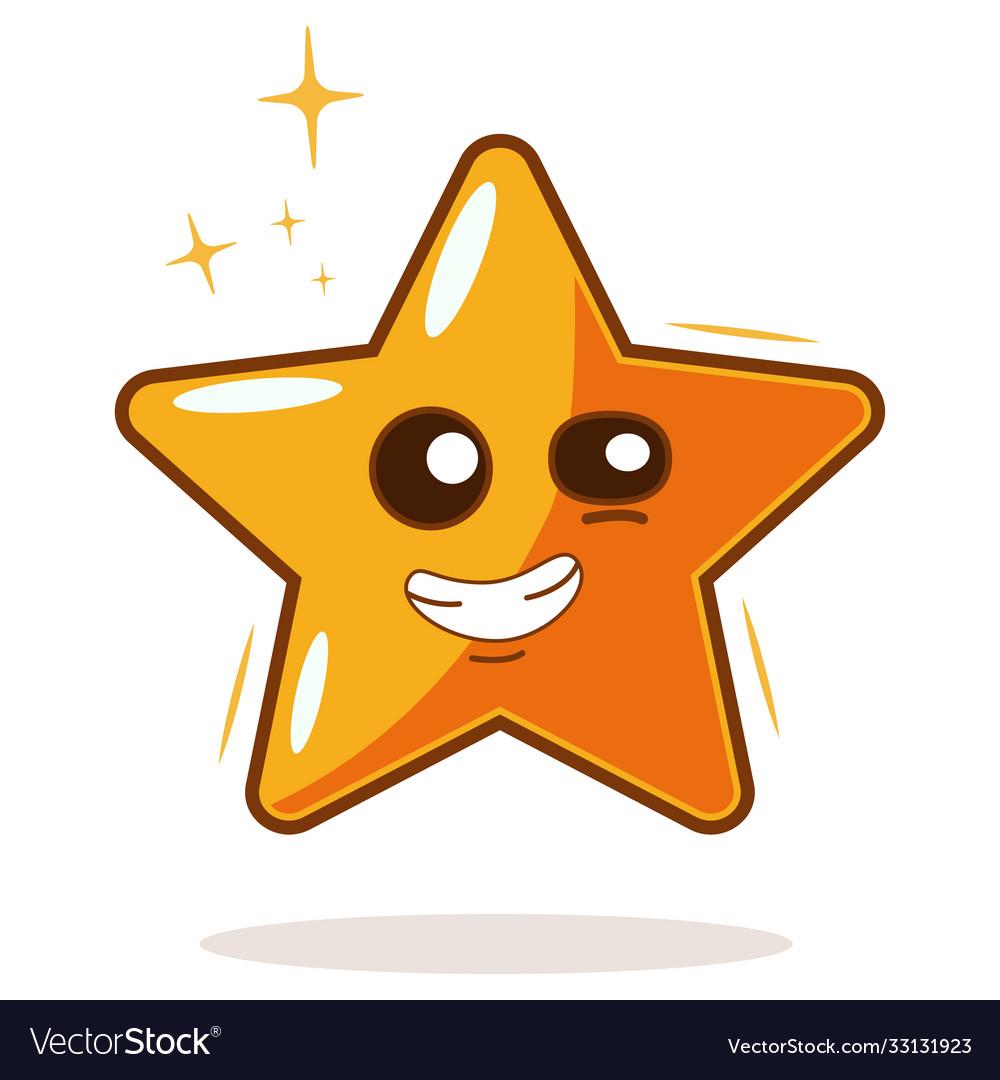Cartoon gold star icon