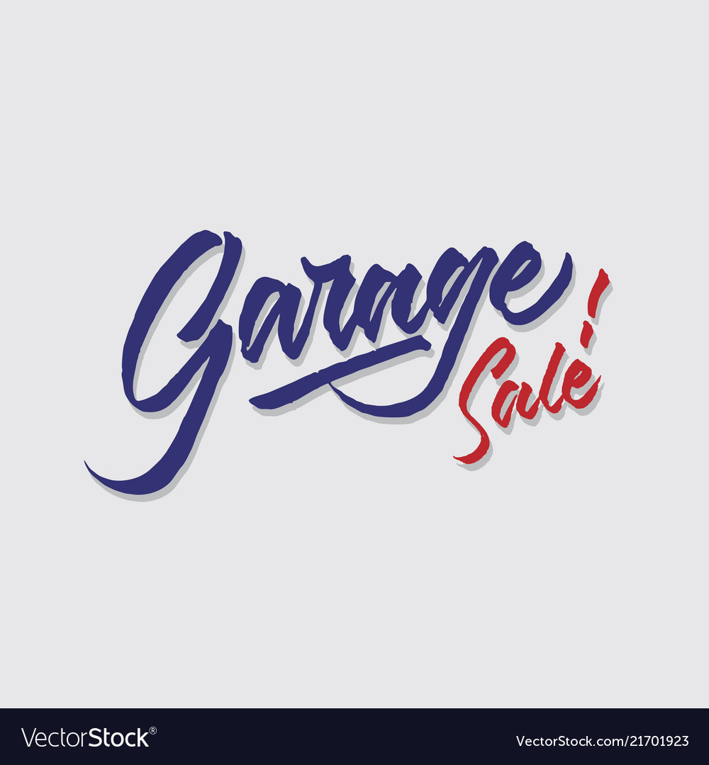 Garage sale hand lettering typography