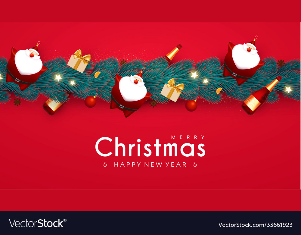 Merry Christmas & Happy New Year 2021 Banner Images Merry Christmas And Happy New 2021 Year Design Vector Image