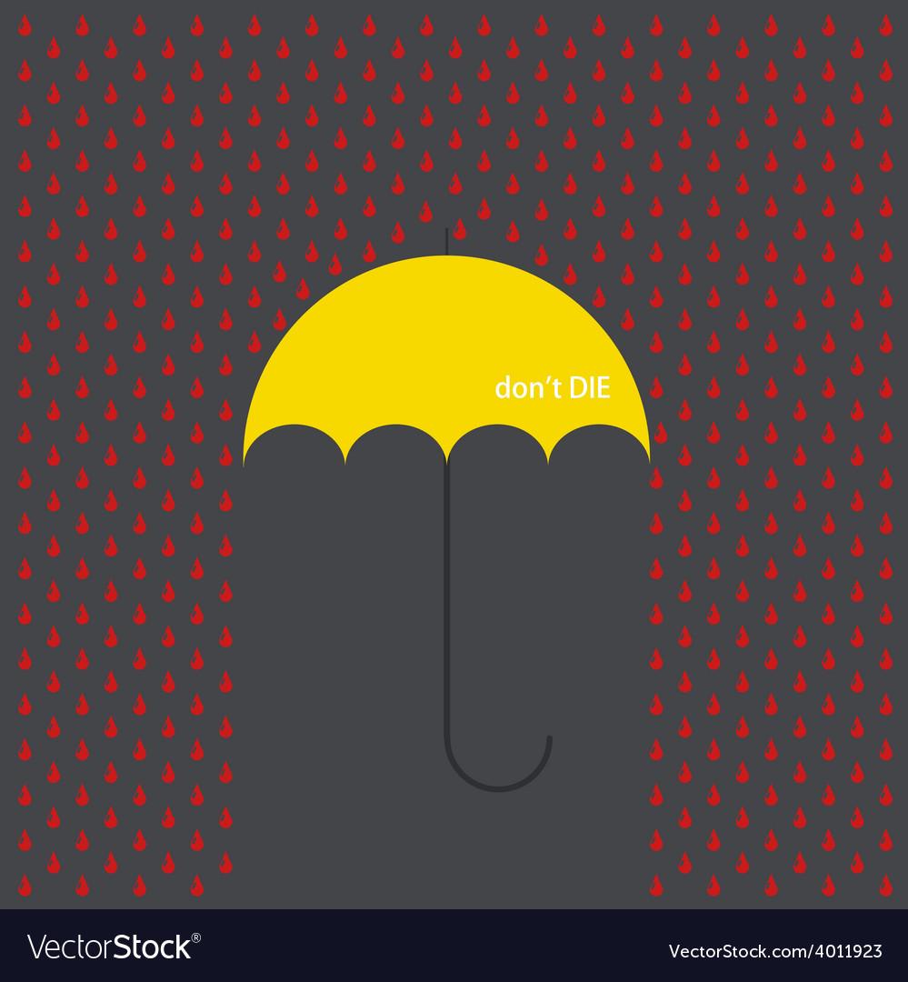 Modern umbrella with drops