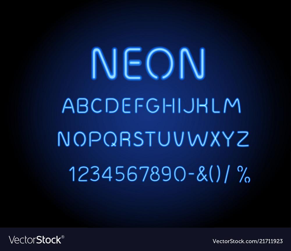 Neon glowing arrow pointer