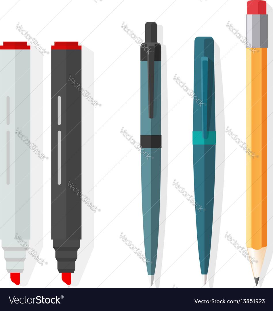 Pens pencils markers dot biro pen with