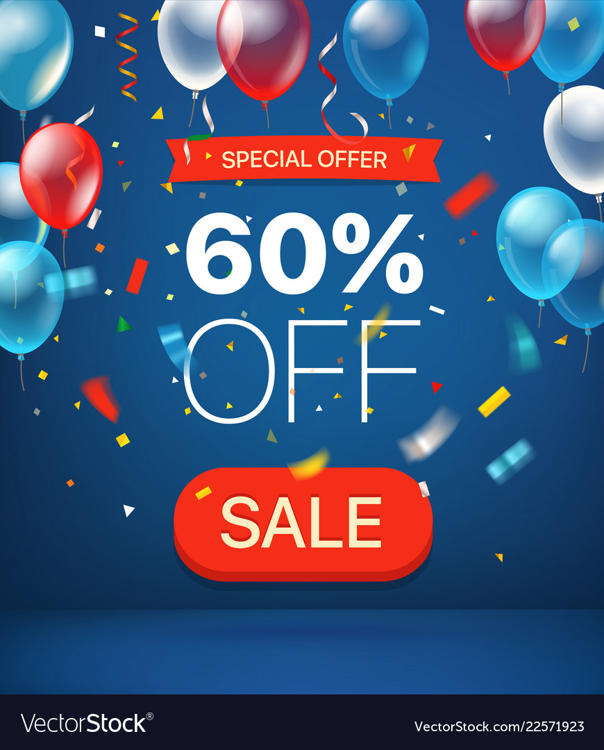 Special offer concept 60 percent off