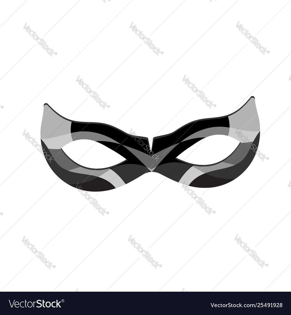 Beautiful black lace masquerade mask isolated on