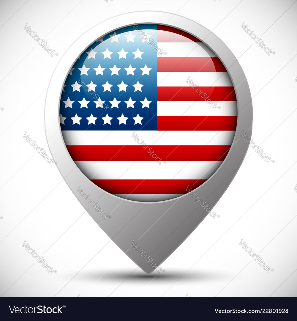 Flag of united states editable