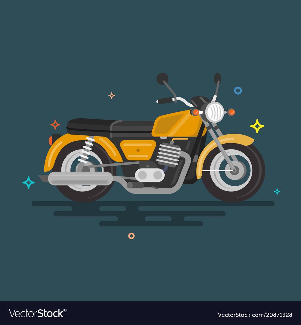 Flat motorcycle design