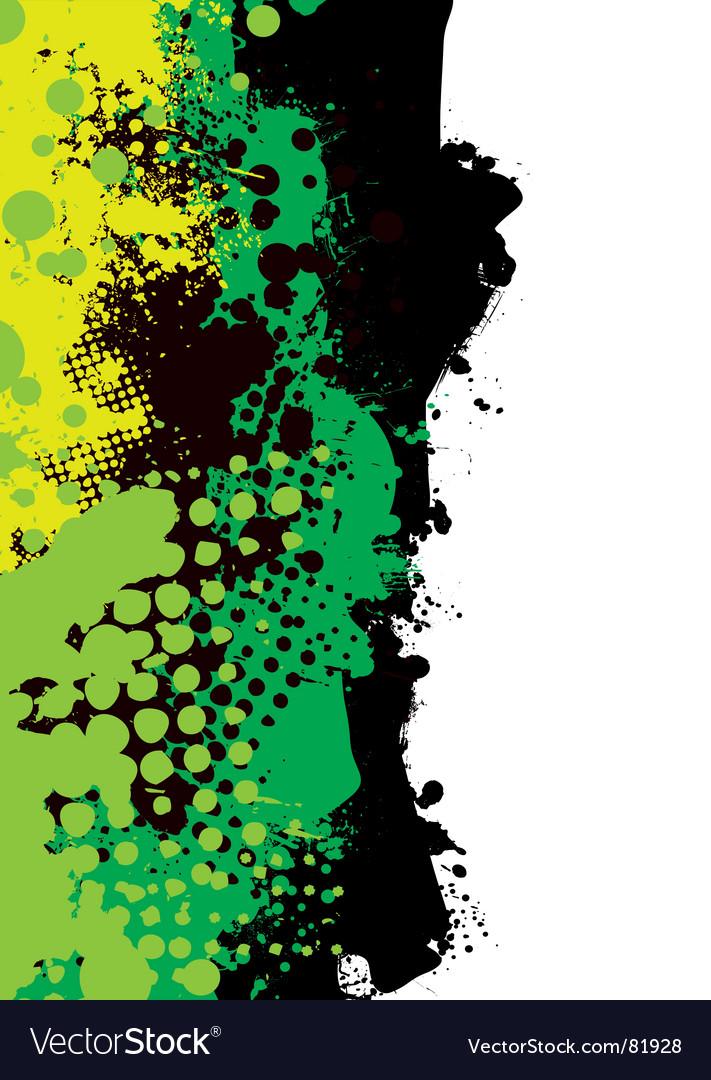 Grunge green splat
