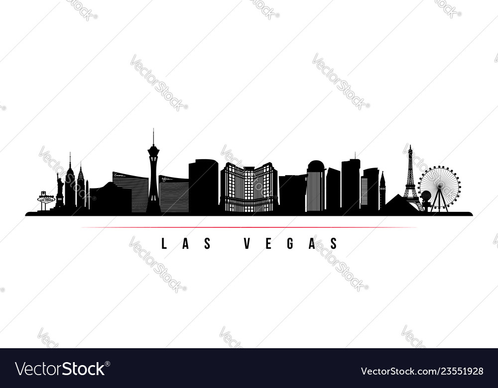 Las vegas city skyline horizontal banner