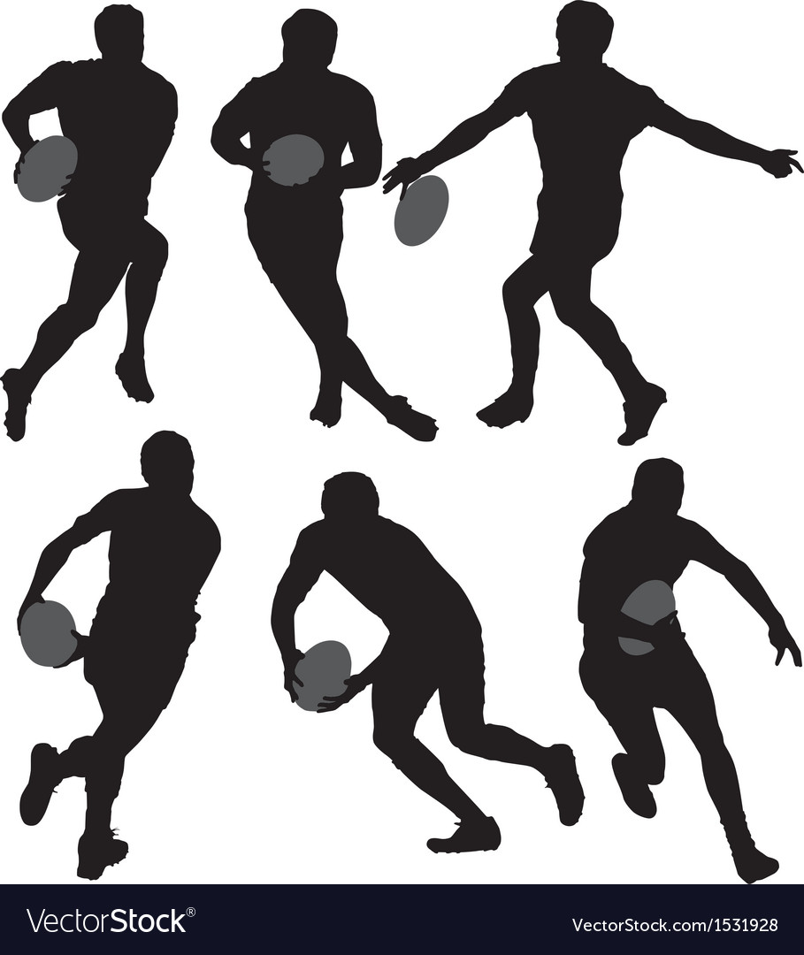Rugby Silhouette vector image