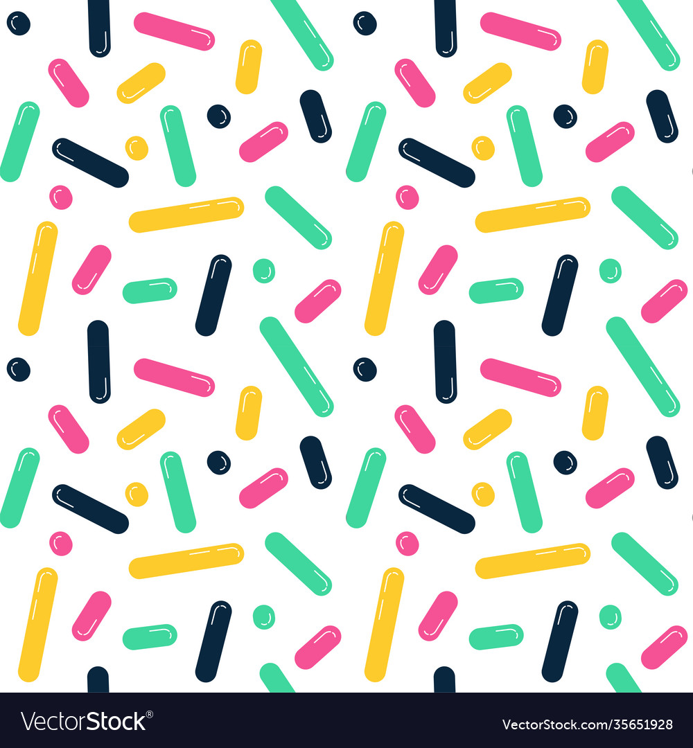 Seamless line doodle memphis pattern fashion 80