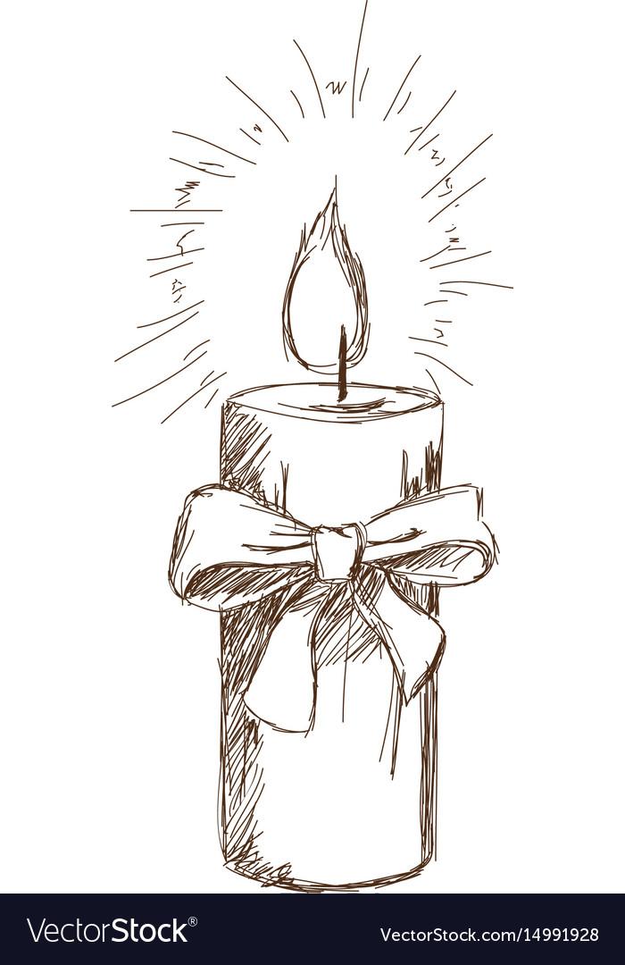 Картинка свечи нарисованная