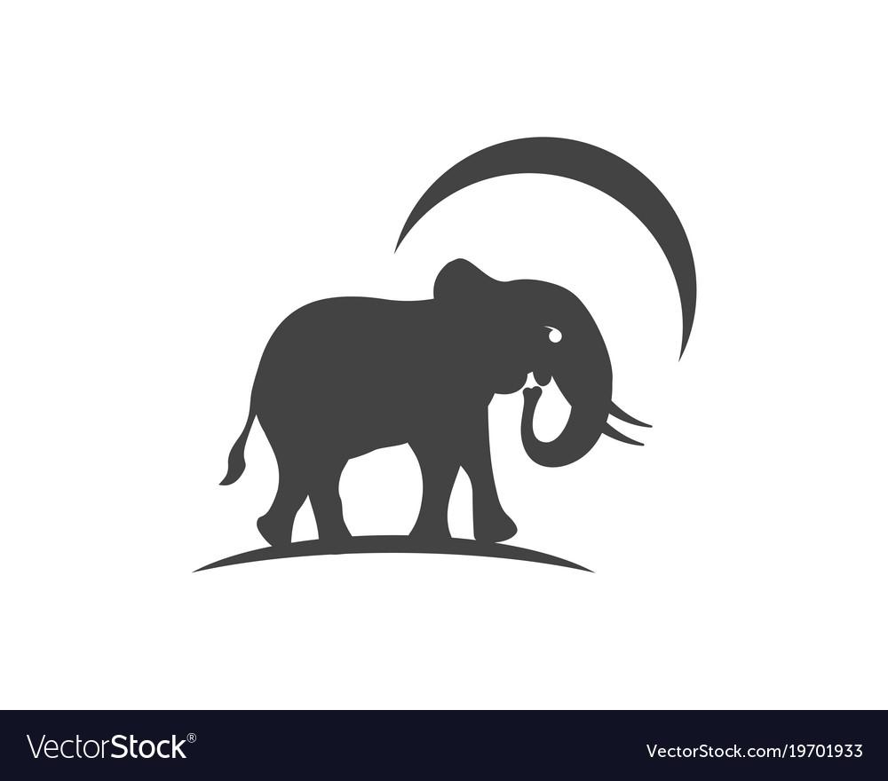 Elephant logo template icon Royalty Free Vector Image