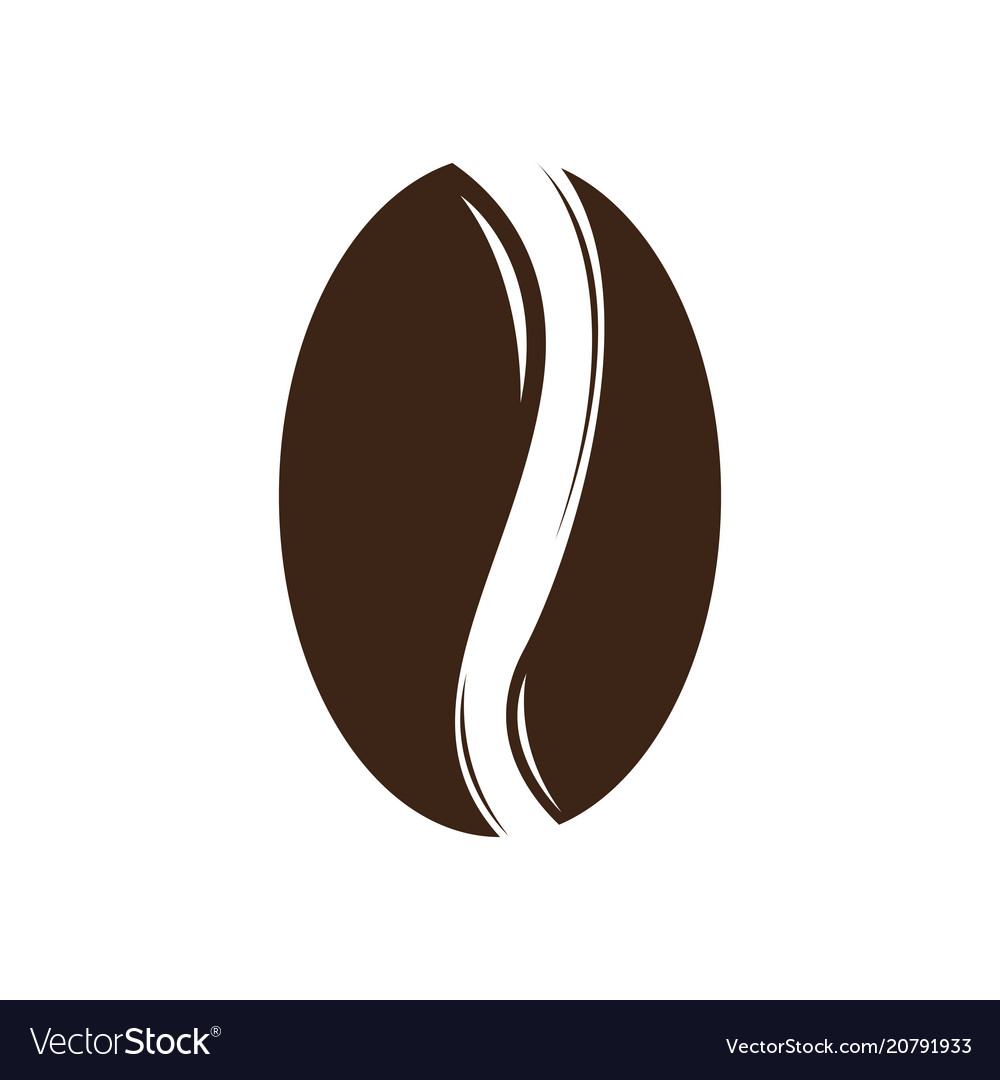 Isolated Coffee Bean Icon Royalty Free Vector Image