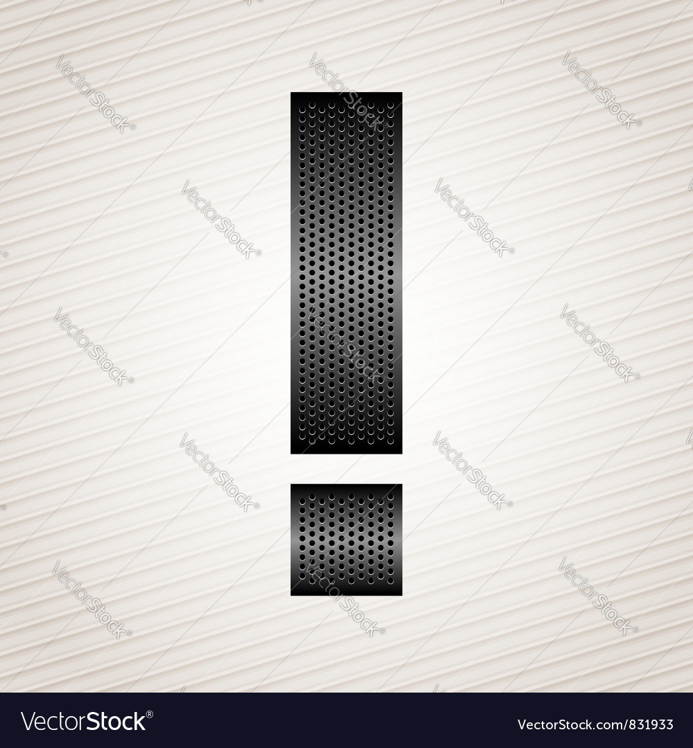 Letter metal ribbon - exclamation mark vector image