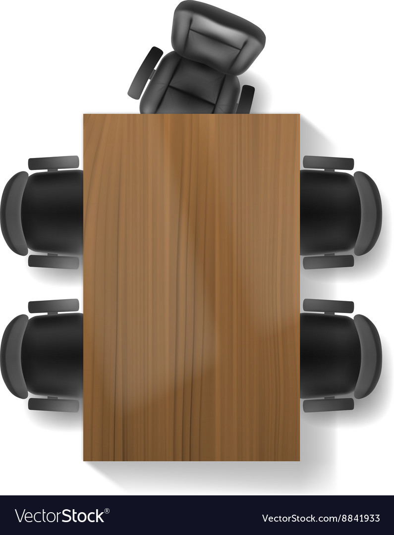 Office chair and table top view Royalty Free Vector Image