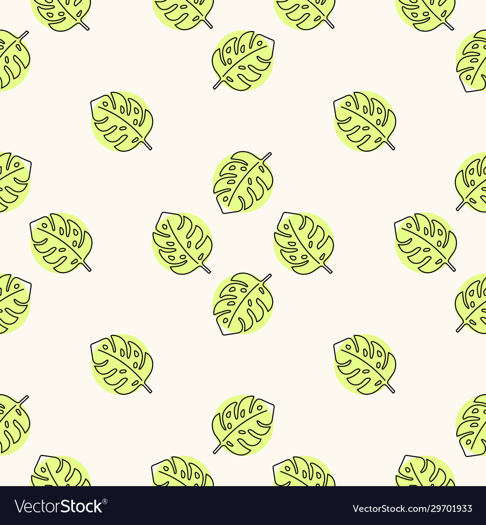 Seamless floral pattern with monstera