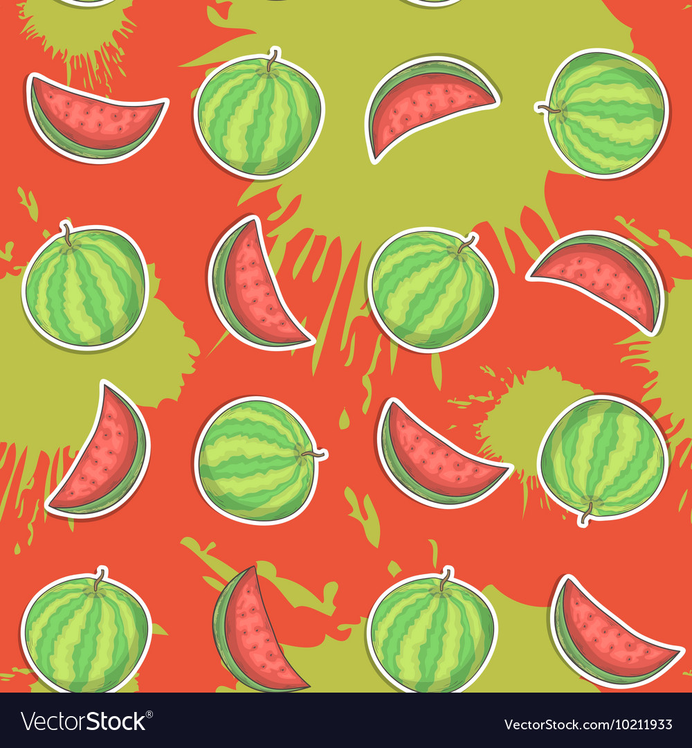 Watermelon seamless pattern