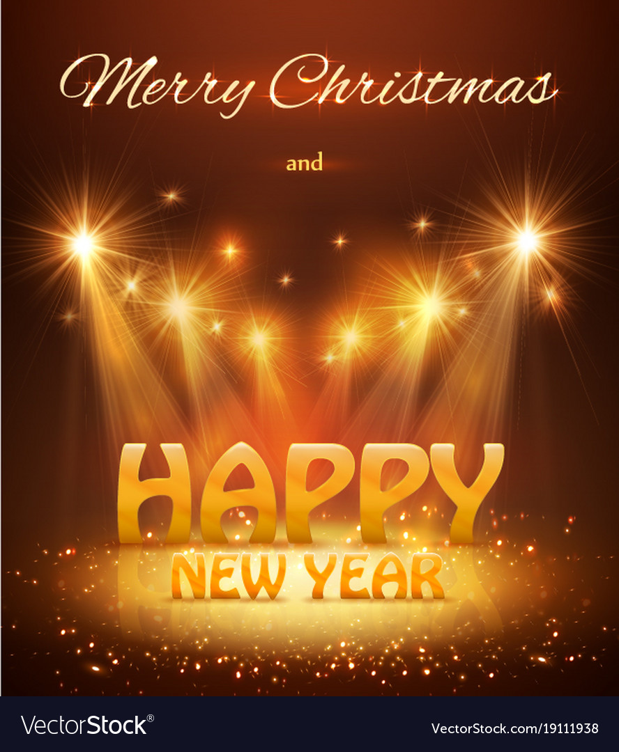 2018 happy new year greeting background with