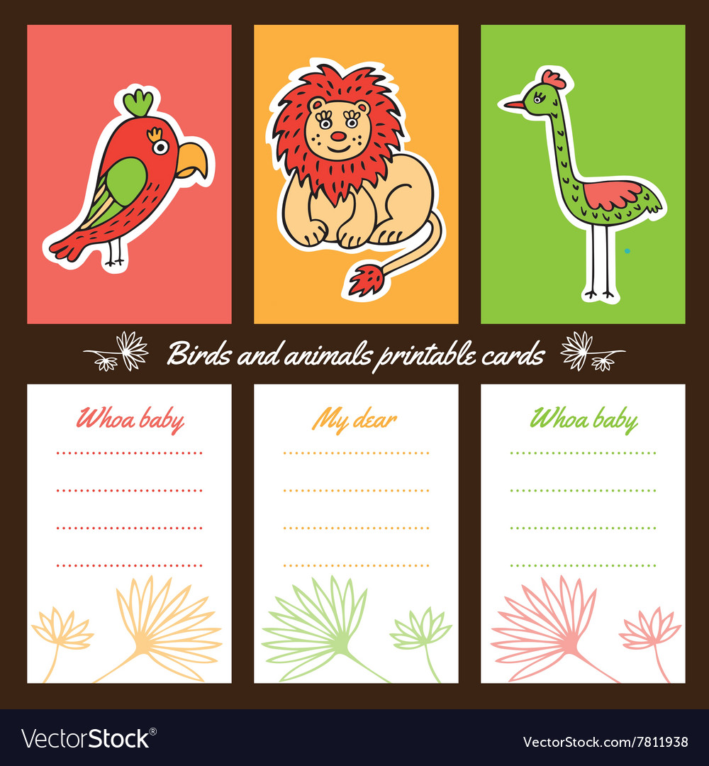 graphic about Animal Cards Printable named Birds and pets printable playing cards