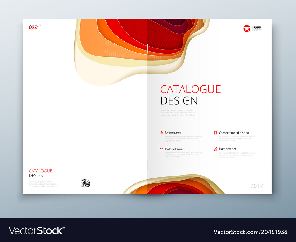 Cover Design Template Paper Carve Abstract Cover Vector Image