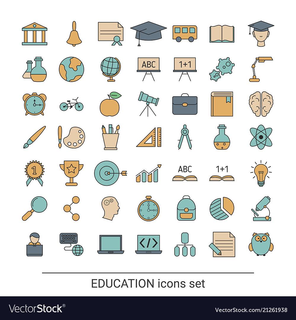 Education icon set education icon set