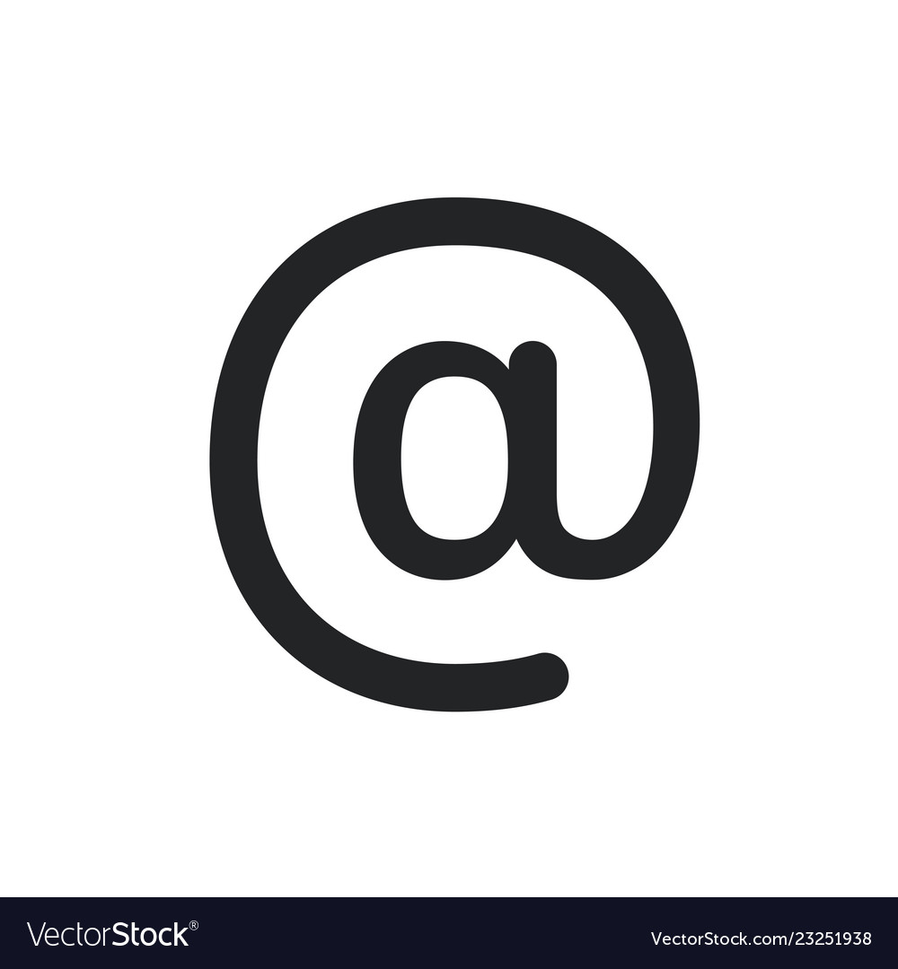 Email sing icon email symbol pictogram isolated