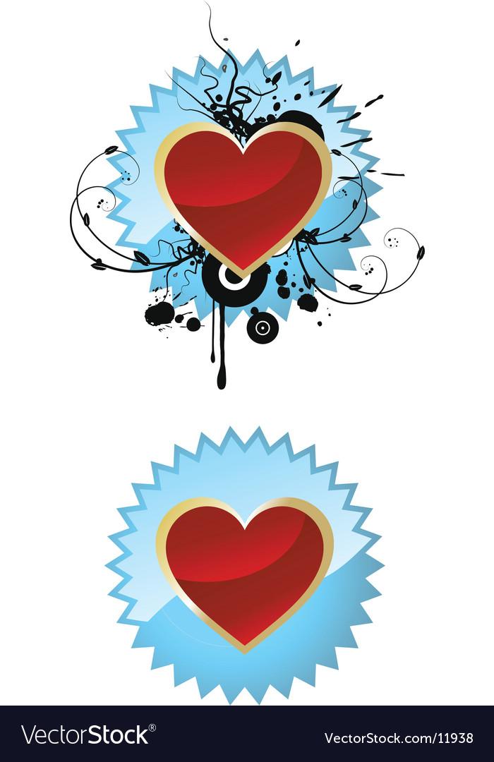 Heart on badge
